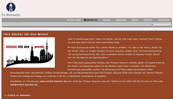 Artikel auf der Michel-Seite