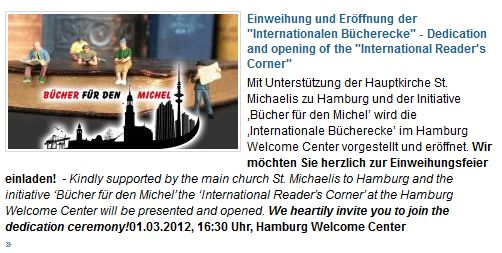 Bücher für den Michel im welcome-center