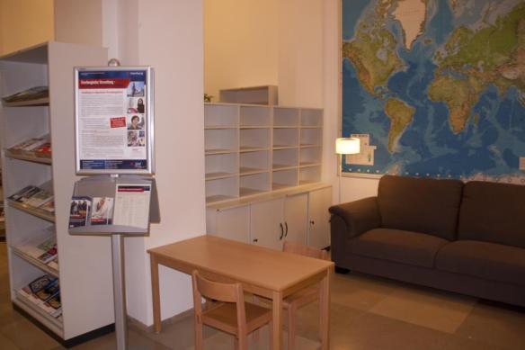 Wartebereich welcome-center/Handelskammer vor der Füllung
